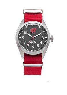 Jack Mason Men's Wisconsin Nato Solid Strap Watch