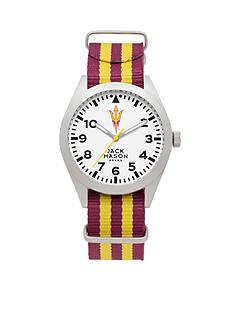 Jack Mason Men's Arizona State Nato Striped Strap Watch
