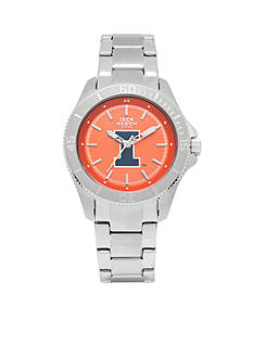 Jack Mason Women's Illinois Sport Bracelet Team Color Dial Watch
