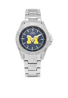 Jack Mason Women's Michigan Sport Bracelet Team Color Dial Watch