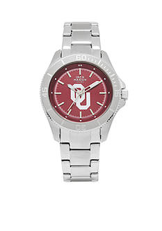 Jack Mason Women's Oklahoma Sport Bracelet Team Color Dial Watch