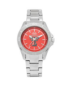 Jack Mason Women's Texas Tech Sport Bracelet Team Color Dial Watch