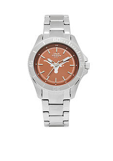 Jack Mason Women's Texas Sport Bracelet Team Color Dial Watch