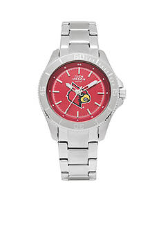 Jack Mason Women's Louisville Sport Bracelet Team Color Dial Watch