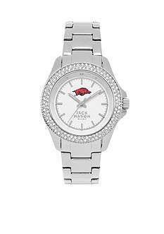 Jack Mason Women's Arkansas Glitz Sport Bracelet Watch