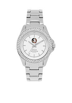 Jack Mason Women's Florida State Glitz Sport Bracelet Watch