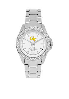 Jack Mason Women's Georgia Tech Glitz Sport Bracelet Watch