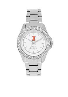 Jack Mason Women's Illinois Glitz Sport Bracelet Watch