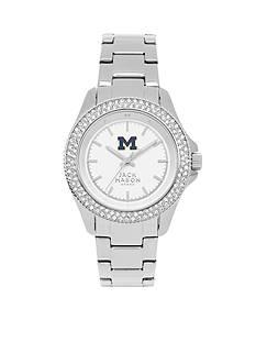 Jack Mason Women's Michigan Glitz Sport Bracelet Watch
