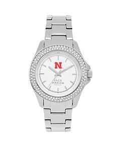 Jack Mason Women's Nebraska Glitz Sport Bracelet Watch