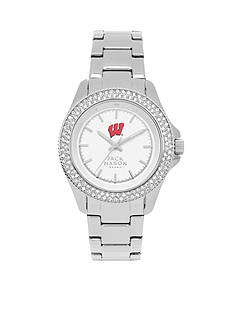 Jack Mason Women's Wisconsin Glitz Sport Bracelet Watch