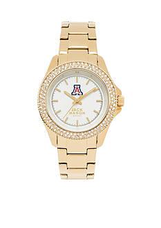 Jack Mason Women's Arizona Gold Tone Glitz Sport Bracelet Watch