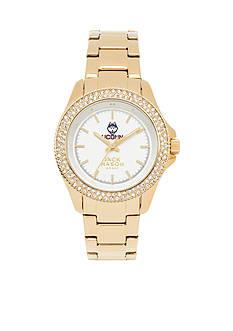 Jack Mason Women's Connecticut Gold Tone Glitz Sport Bracelet Watch