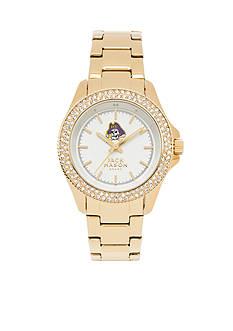Jack Mason Women's East Carolina Gold Tone Glitz Sport Bracelet Watch