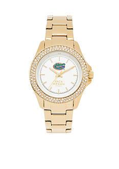 Jack Mason Women's Florida Gold Tone Glitz Sport Bracelet Watch