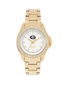 Jack Mason Women's Georgia Gold Tone Glitz Sport Bracelet Watch