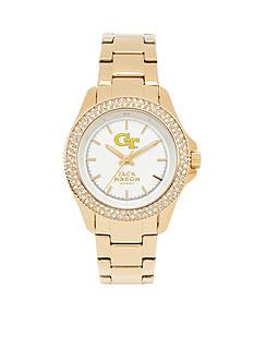 Jack Mason Women's Georgia Tech Gold Tone Glitz Sport Bracelet Watch