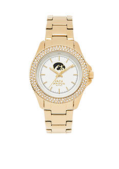 Jack Mason Women's Iowa Gold Tone Glitz Sport Bracelet Watch