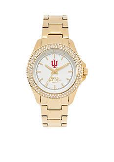 Jack Mason Women's Indiana Gold Tone Glitz Sport Bracelet Watch