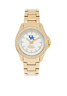Jack Mason Women's Kentucky Gold Tone Glitz Sport Bracelet Watch