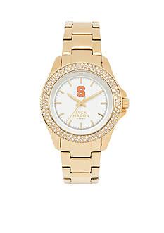 Jack Mason Women's Syracuse Gold Tone Glitz Sport Bracelet Watch