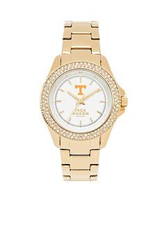 Jack Mason Women's Tennessee Gold Tone Glitz Sport Bracelet Watch