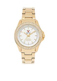Jack Mason Women's Virginia Gold Tone Glitz Sport Bracelet Watch