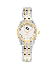 Jack Mason Women's Florida State Two Tone Dress Bracelet Watch
