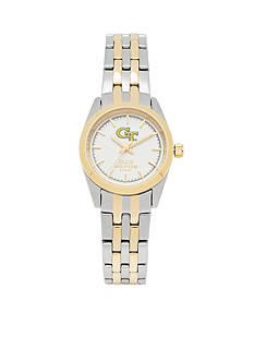 Jack Mason Women's Georgia Tech Two Tone Dress Bracelet Watch