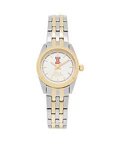 Jack Mason Women's Illinois Two Tone Dress Bracelet Watch