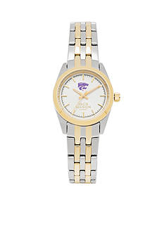 Jack Mason Women's Kansas State Two Tone Dress Bracelet Watch