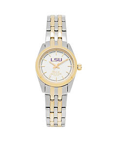 Jack Mason Women's LSU Two Tone Dress Bracelet Watch