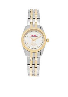 Jack Mason Women's Ole Miss Two Tone Dress Bracelet Watch