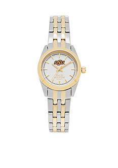 Jack Mason Women's Oklahoma State Two Tone Dress Bracelet Watch