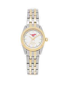 Jack Mason Women's SMU Two Tone Dress Bracelet Watch