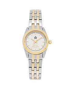 Jack Mason Women's Vanderbilt Two Tone Dress Bracelet Watch