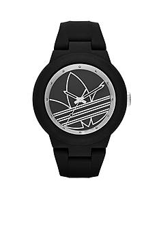 adidas Originals Aberdeen Black and Silver Silicone Three Hand Watch