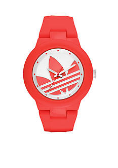 adidas Women's Aberdeen Three-Hand Red Silicone Watch