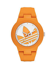 adidas Women's Aberdeen Three-Hand Orange Silicone Watch