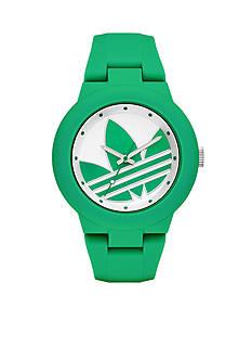 adidas Women's Aberdeen Three-Hand Green Silicone Watch