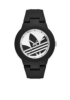 adidas Women's Aberdeen Three-Hand Black Silicone Watch