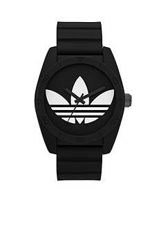 adidas Black Silicone Santiago Three Hand Watch