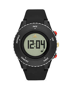 adidas Men's Performance Sprung Black Tri-Axle Graphic Digital Sport Tracker Watch