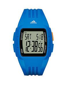 adidas Men's Duramo Digital Blue Silicone Watch