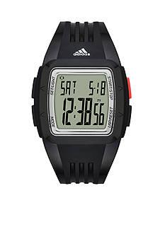 adidas Men's Duramo Digital Black Silicone Strap Watch