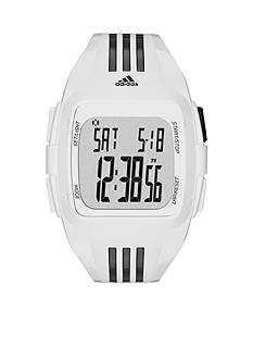 adidas White and Black Polyurethane Duramo Digital Watch