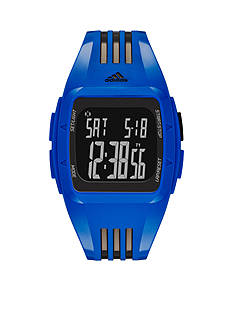 adidas Blue and Black Polyurethane Duramo Digital Watch