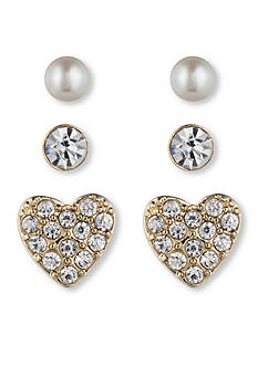 Lonna & Lilly Classic Stud Trio Earrings Set