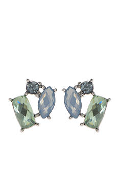 Lonna & Lilly Silver-Tone Blue Multi Cluster Stud Earrings