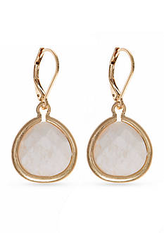 Lonna & Lilly Gold-Tone White Teardrop Earrings